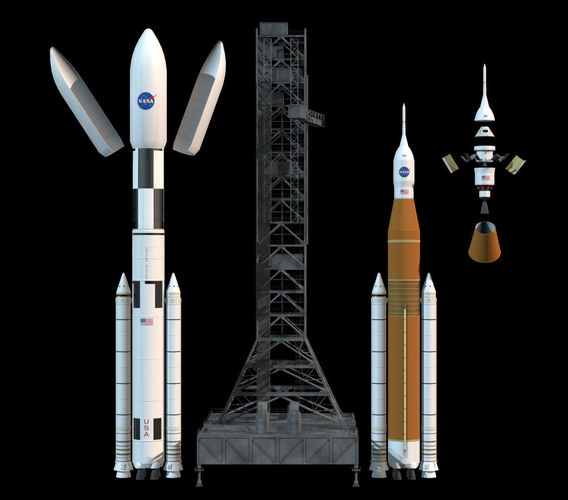 Nasa Sls Space Launch System 3d Cgtrader