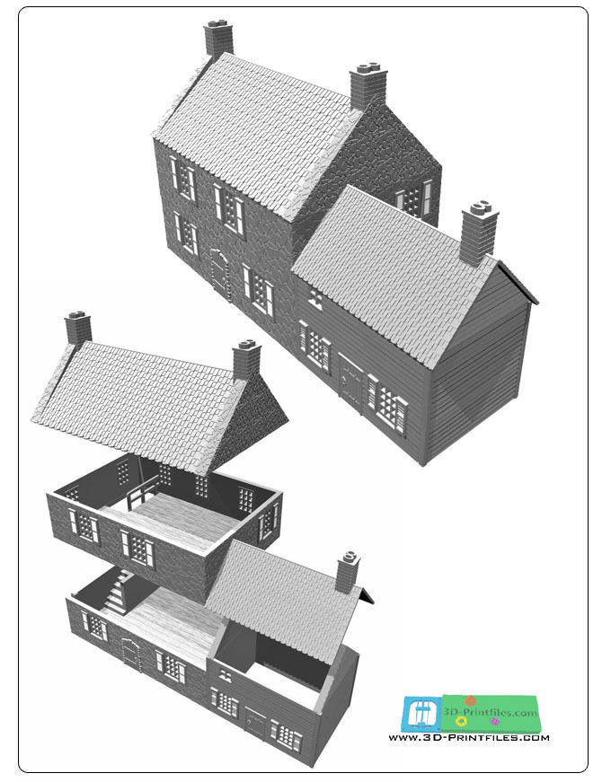 france or ardennen building -stl file