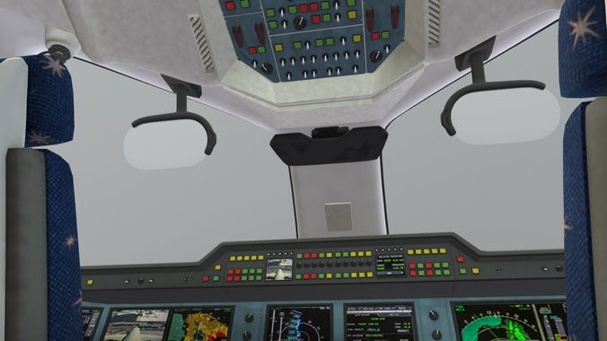 Airbus A350 - 900 With Cockpit and full Cabin Interior | 3D model