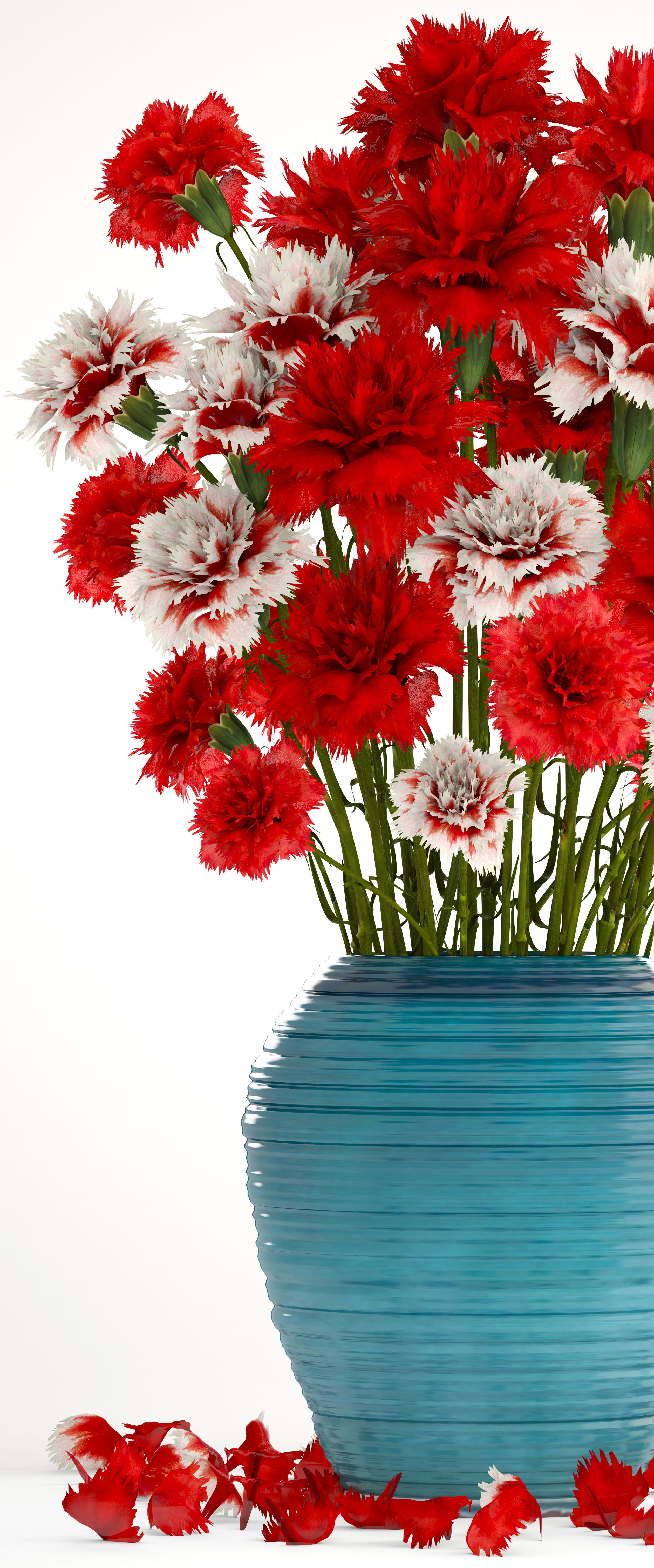 Bouquet of flowers red Carnation 3D | CGTrader