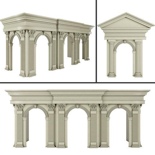 classic architecture arch 2 3d model max obj mtl fbx 1