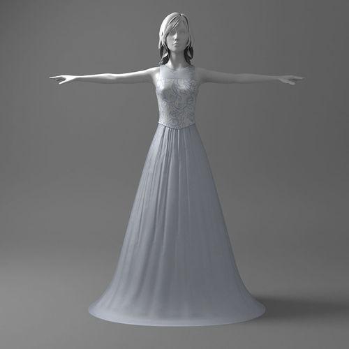 Nice wedding dress 3D | CGTrader
