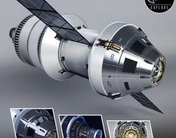 3D model Spacecraft ship rocket