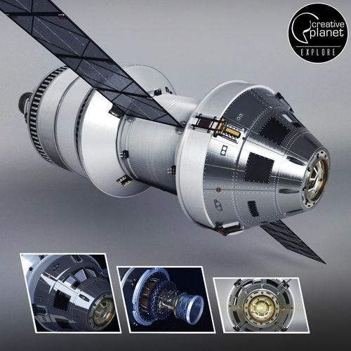 spacecraft ship rocket 3d model max obj mtl 3ds fbx 1