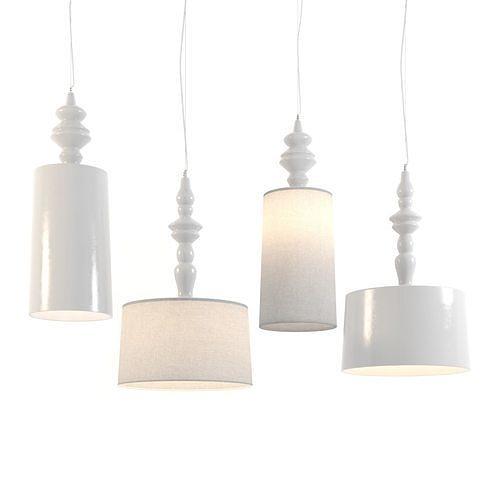 karman ali e baba suspension lamps 3d model max obj mtl 3ds fbx dwg 1