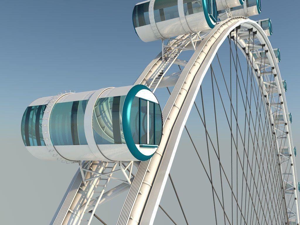 3D Singapore Flyer Detailed Model Ferris Wheel model | 3D model