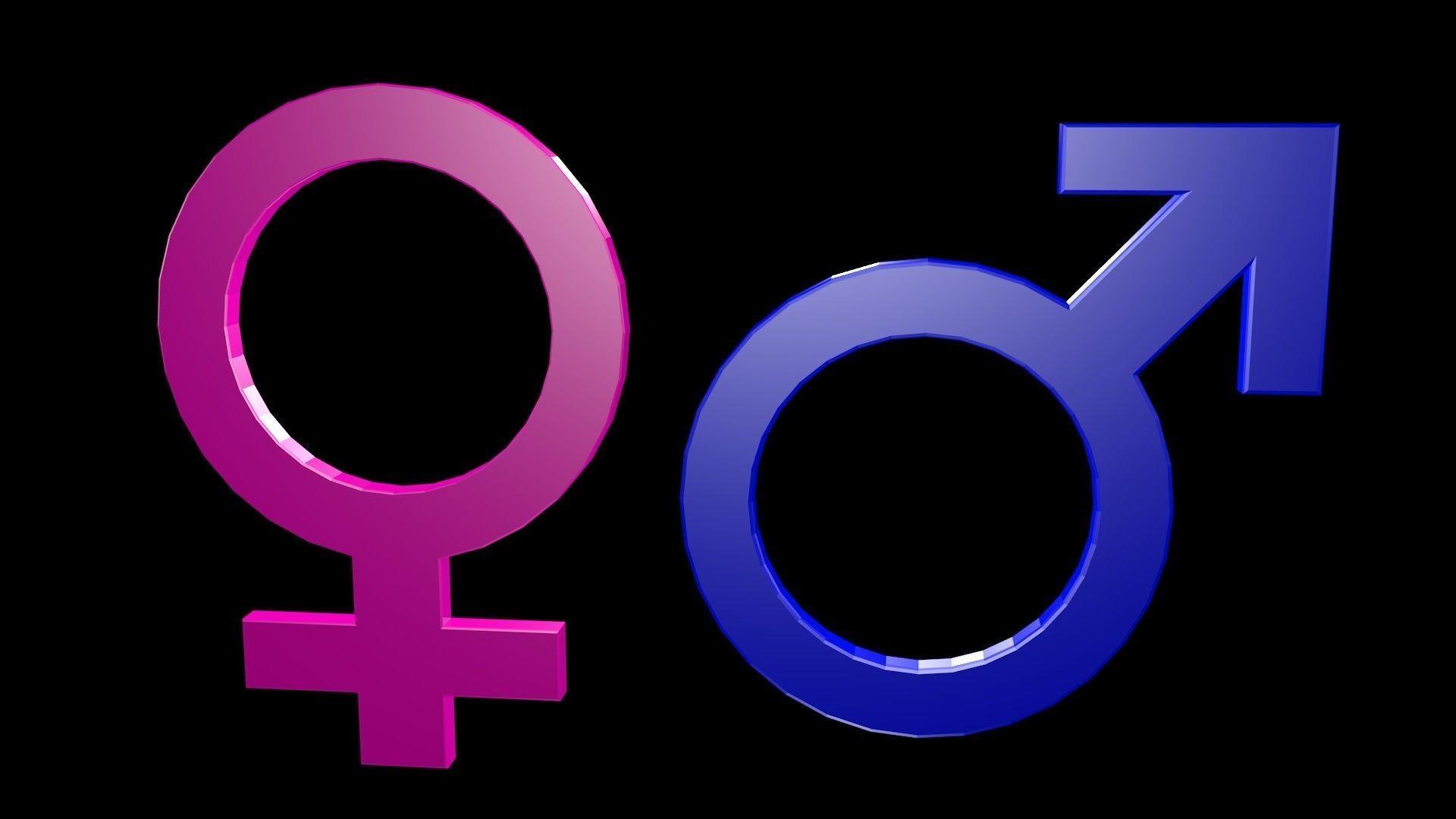 Low poly Symbols of gender 1