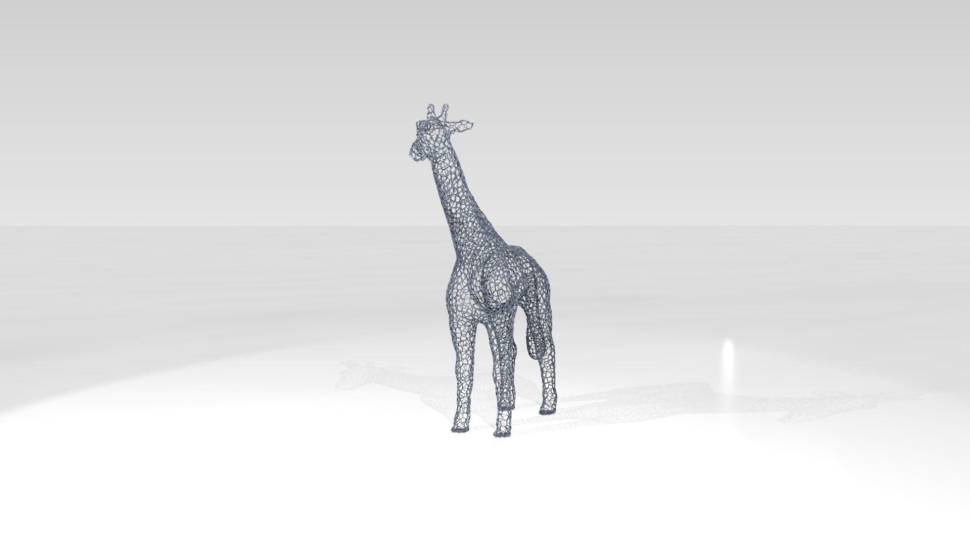 Giraffe Voronoi | 3D model