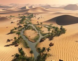 3D The long oasis in Vue