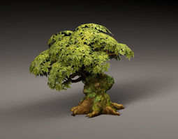 Old Cartoon Tree 3D model