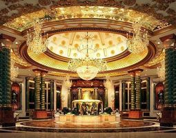 Luxurious Hall Interior with Chandeliers 3D model