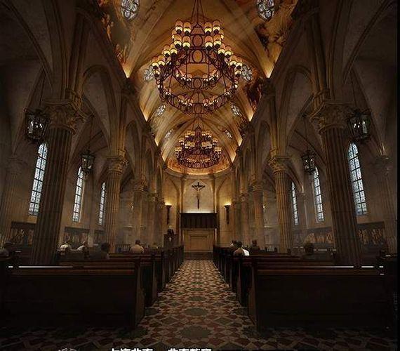 3d Model Luxury Church Interior Cgtrader