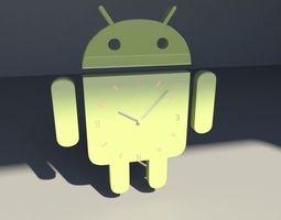 Android Clock 3D Model