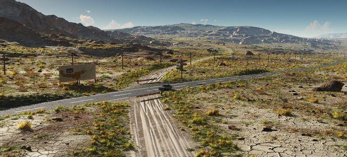 route 66 3d model vue 1