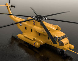 3D model animated Sikorsky MH-53 Pavelow