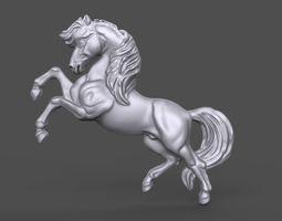 Horse bas relief 3D printable model
