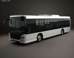 3D model Scania Citywide LE Bus 2011