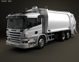 scania p garbage 3-axis 2011 3d model