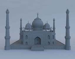 3D Taj Mahal with Mosque