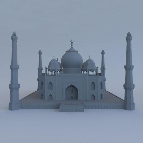 taj mahal with mosque 3d model obj mtl fbx ma mb 1