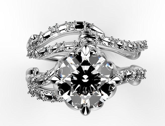 jewelry-bridal-set-leaf-model-for-printi