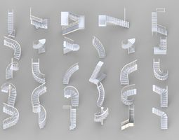 3D model Stairs Collection