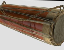Traditional drum 3D