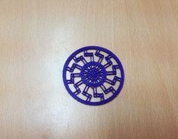 Black Sun Pendant 3D printable model