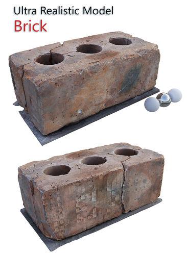 brick  3d scan 3d model max obj mtl fbx 1