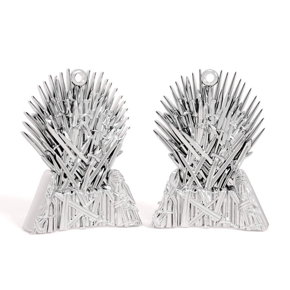 3d Printable Model Pendant Iron Throne Cgtrader