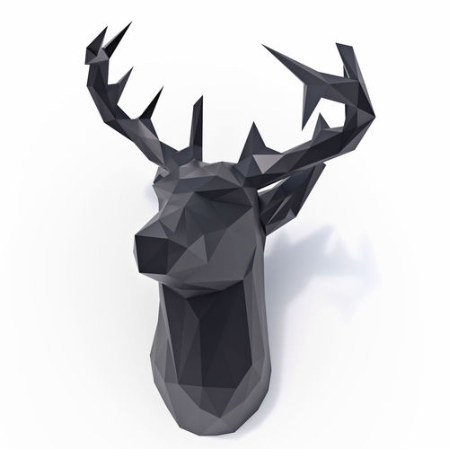 deer low poly 3d model low-poly max obj mtl 3ds fbx 1