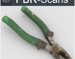 Pliers High Poly 3D model PBR