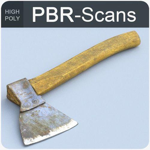 hatchet high poly 3d model obj fbx ma mb 1
