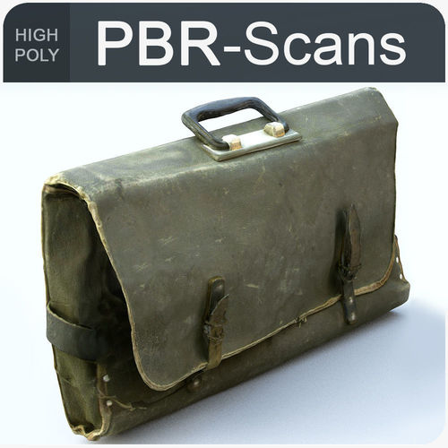 satchel high poly 3d model obj fbx ma mb 1