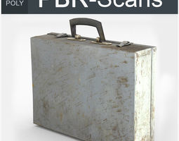 Suitcase Low Poly 3D model game-ready