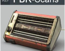 3D PBR Heater High Poly