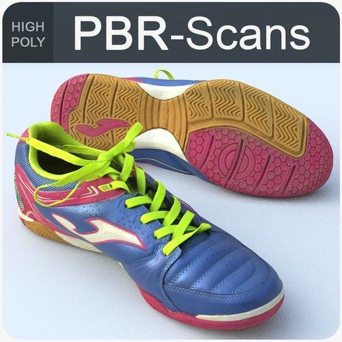 sneaker high poly 3d model obj mtl fbx ma mb 1