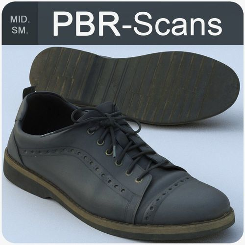 shoe middle poly 3d model obj mtl fbx ma mb 1