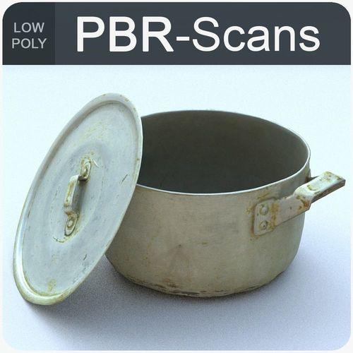 saucepan low poly 3d model low-poly obj mtl fbx ma mb 1