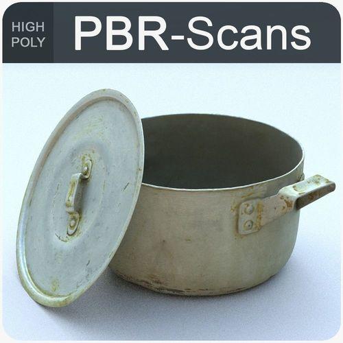 saucepan high poly 3d model obj fbx ma mb 1