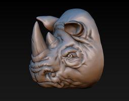 3D print model Rhino head