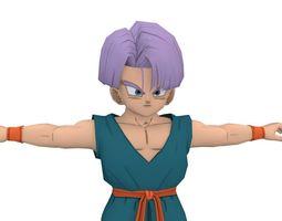 3D model Ninja Fighter Boy Cartoon