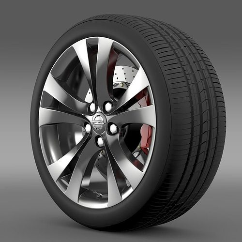 opel insignia wheel 3d model max obj mtl 3ds fbx c4d lwo lw lws 1