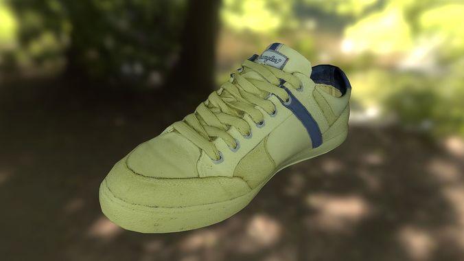 sneaker shoe 3d model low poly 3d model low-poly obj mtl fbx lwo lw lws ma mb stl dae 1