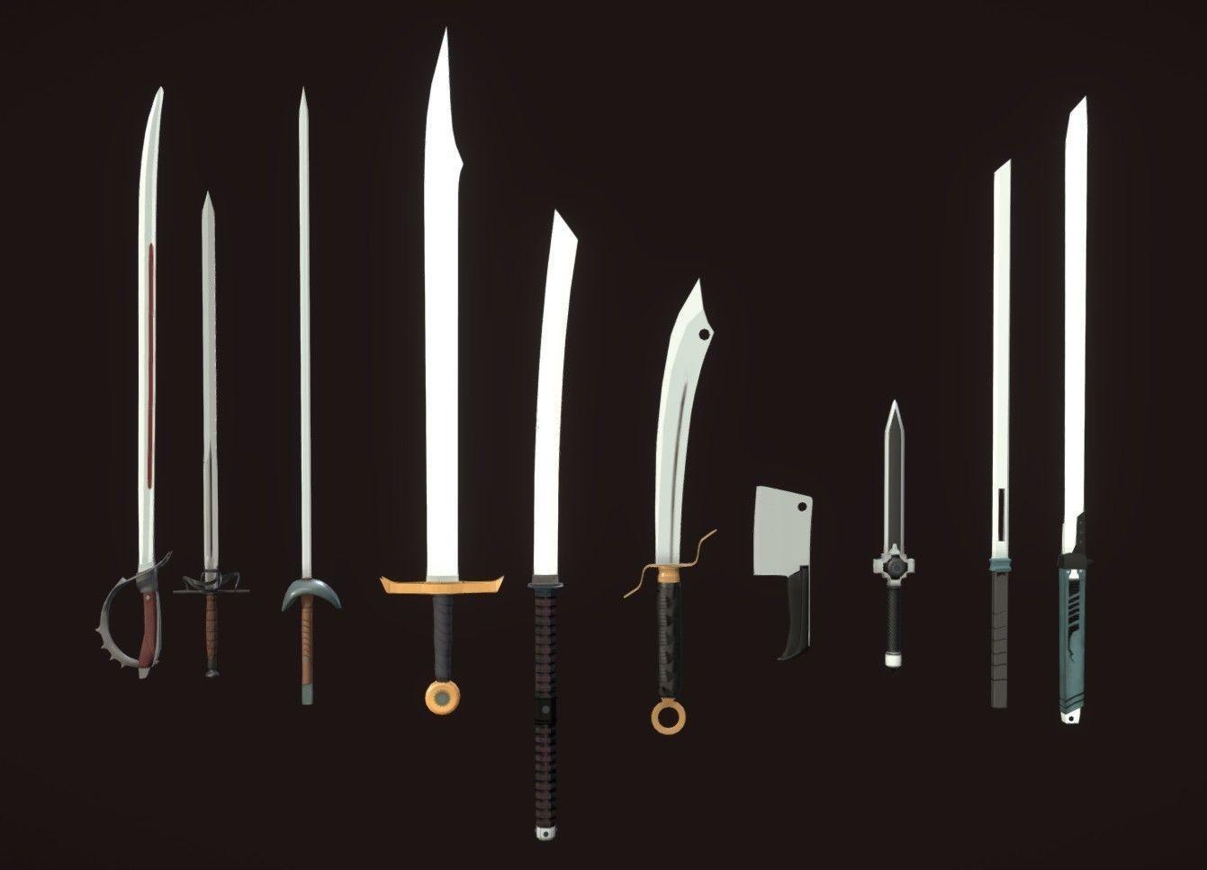 7 PBR Swords
