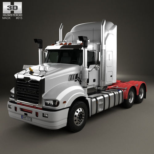 mack trident axle back high rise sleeper cab tractor truck 2008 3d model max obj mtl 3ds fbx c4d lwo lw lws 1
