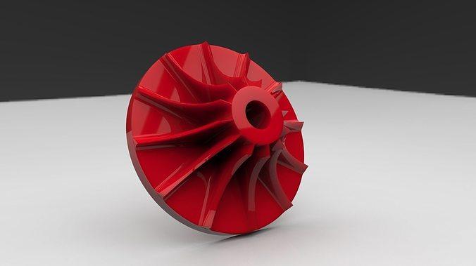 3d printable compressor wheel 3d model stl 1