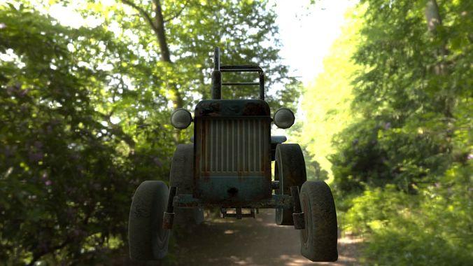 tractor 3d model ma mb tga 1