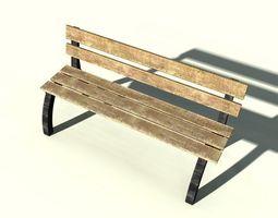 3D asset game-ready bench