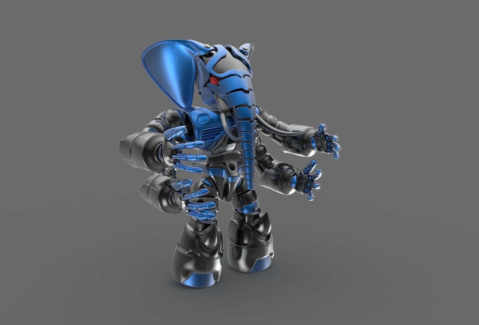 Robot elephant | 3D model